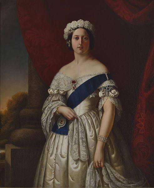 ウエディングドレスを身にまとうヴィクトリア女王