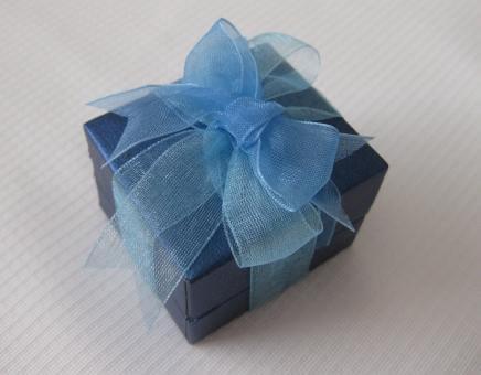 サムシングブルーのオーガンジーリボン