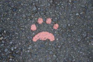 ピンクの足跡
