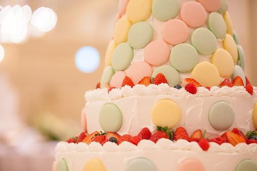 マカロンウエディングケーキ