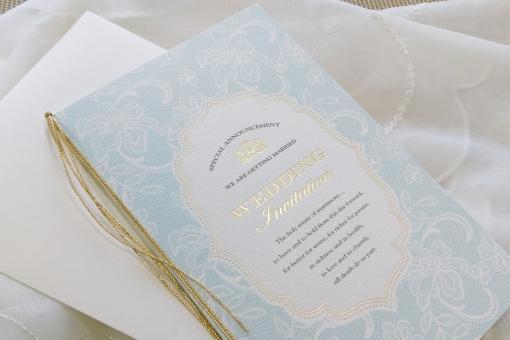 結婚式のペーパーアイテム(青)