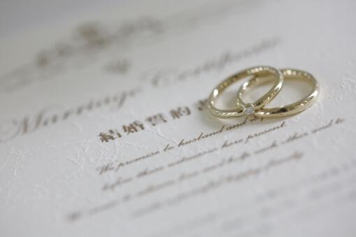 結婚指輪と誓約書