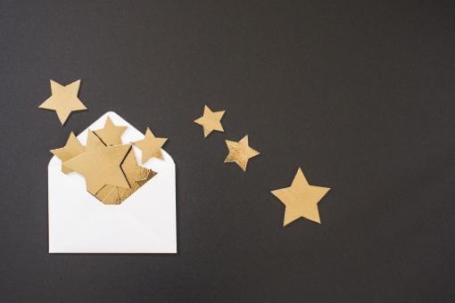 白い封筒からお星様
