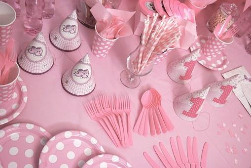 ピンクのパーティグッズ