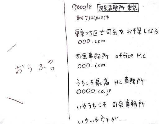 ネット検索で困惑する図