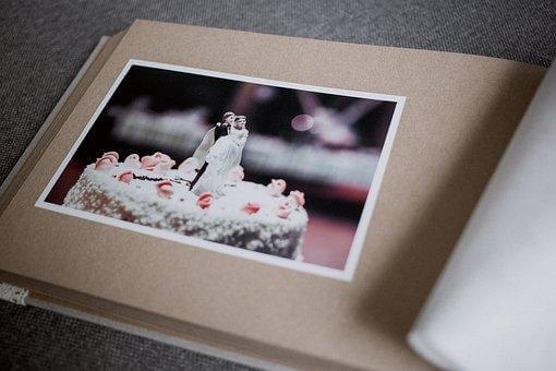 結婚式のアルバムの一ページ