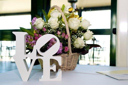 愛, 結婚式, ロマンチック, 花, 結婚, 花柄, 祝賀, ロマンス