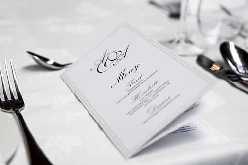 結婚式, 結婚, レセプション, 食品, ダイン, イベント, 招待状