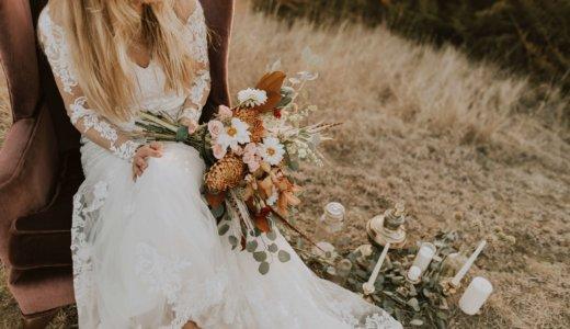 ガーデンに座る花嫁